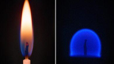 Photo of V nulové gravitaci je oheň modrý akulatý
